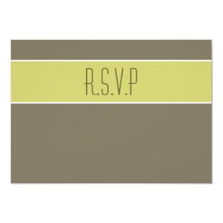 Avocado green stone party rsvp response 5x7 paper invitation card