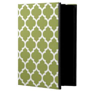 Avocado Green White Moroccan Quatrefoil Pattern #5 Case For iPad Air