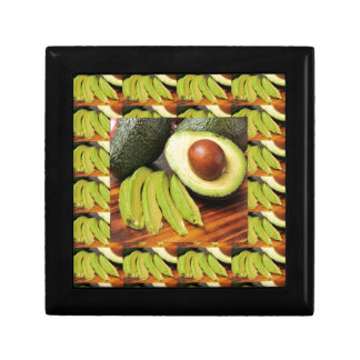AVOCADO healthy foods ingredient sauces chutney Keepsake Box