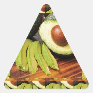 AVOCADO healthy foods ingredient sauces chutney Triangle Sticker