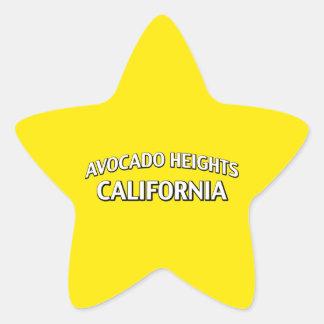 Avocado Heights California Star Sticker