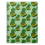 Avocado in  Paradise Spiral Notebooks