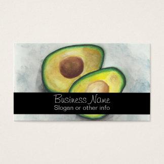 Avocado in Watercolor Business Card