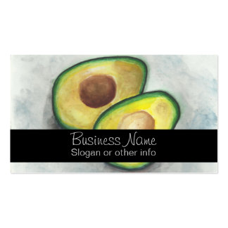 Avocado in Watercolor Double-Sided Standard Business Cards (Pack Of 100)