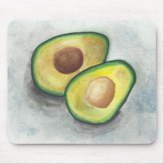 Avocado in Watercolor Mouse Pad