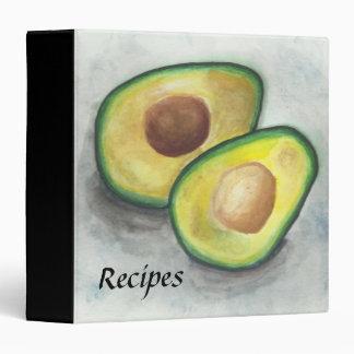 Avocado in Watercolor Recipe Binder