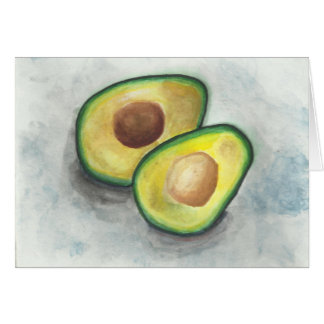 Avocado in Watercolor Stationery Note Card