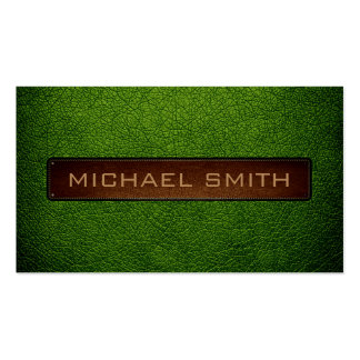 Avocado Leather Look Professional Business Card