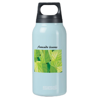 Avocado Leaves Insulated Water Bottle