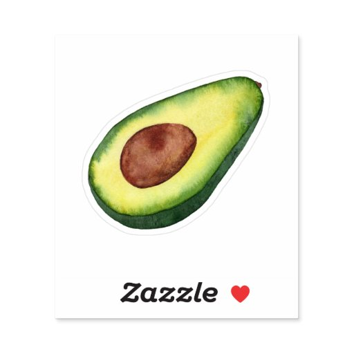 Avocado Love Watercolor Painting  Sticker