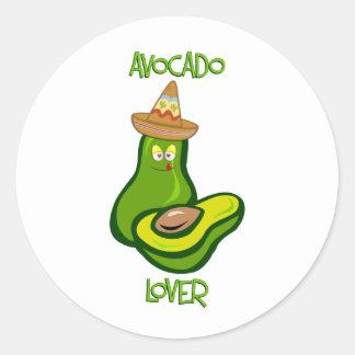Avocado Lover Classic Round Sticker