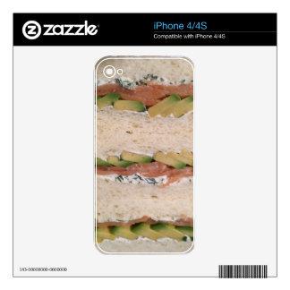 Avocado & Lox sandwich iPhone 4S Decals