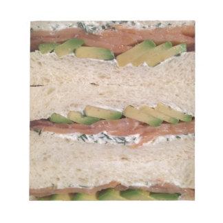 Avocado & Lox sandwich Notepad