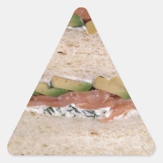 Avocado & Lox sandwich Triangle Sticker