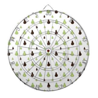 Avocado Pattern Dart Board
