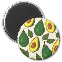 Avocado pattern magnet