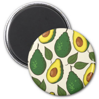 Avocado pattern magnet