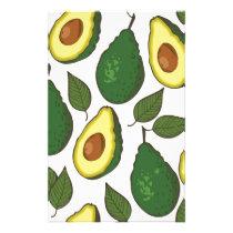 Avocado pattern stationery