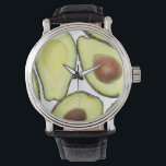 """Avocado Pattern Wrist Watch<br><div class=""""desc"""">Avocado Pattern. You can personalize the design further if you&#39;d prefer,  such as by adding your name or other text,  or adjusting the image - just click &#39;Customize&#39; to see all the options.</div>"""