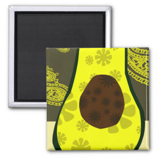 Avocado Pickle 2 Inch Square Magnet