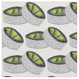 Avocado Roll Japanese Food Maki Sushi Foodie Fabric