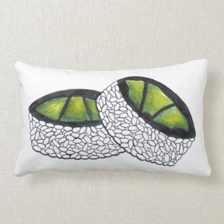 Avocado Roll Japanese Food Sushi Rolls Foodie Lumbar Pillow