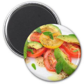Avocado Salad 2 Inch Round Magnet