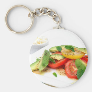 Avocado Salad And Olives Basic Round Button Keychain