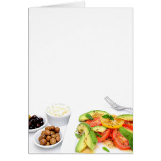 Avocado Salad And Olives Card