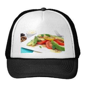 Avocado Salad And Olives Mesh Hats