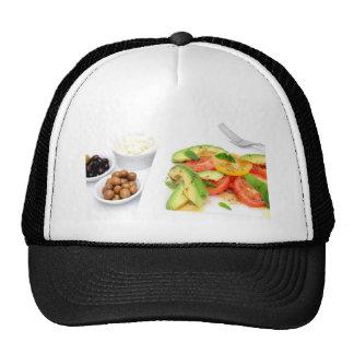 Avocado Salad And Olives Hats