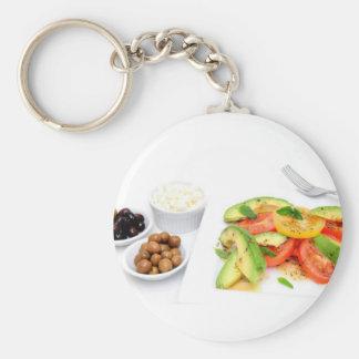 Avocado Salad And Olives Keychain