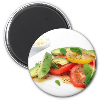 Avocado Salad And Olives Magnet