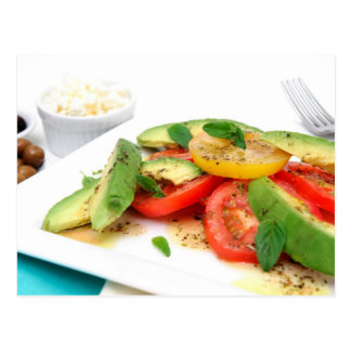 Avocado Salad And Olives Postcard