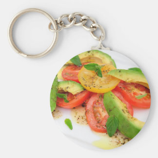 Avocado Salad Keychain