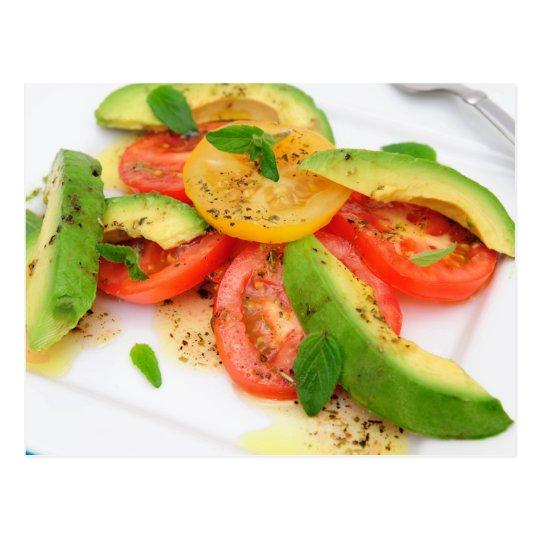 Avocado Salad Postcard