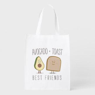 Avocado + Toast Best Friends Funny Grocery Bag