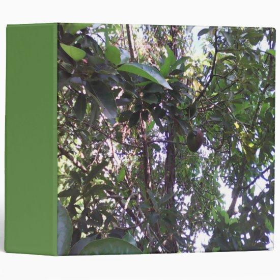Avocado Tree 3 Ring Binder