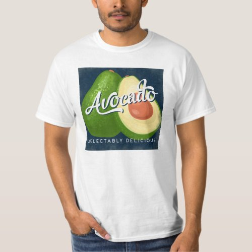 Avocado Vintage Fruit Label Retro