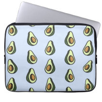 Avocadon't Pattern Laptop Sleeve