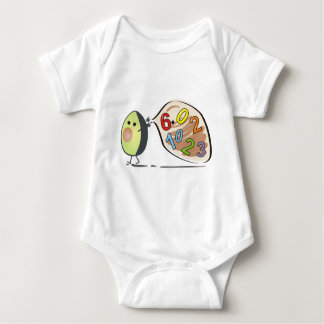 avocados numbers baby bodysuit