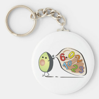 avocados numbers basic round button keychain