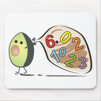avocados numbers mouse pad
