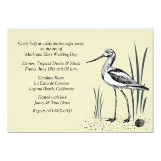 Avocet Seabird Invitation