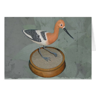 Avocet Woodcarving Note Card