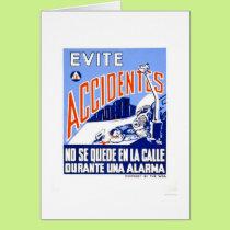Avoid Accidents 1942 WPA Card