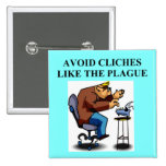 avoid cliches pinback buttons