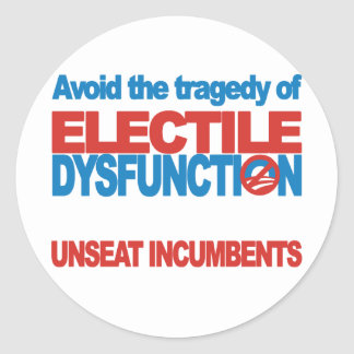 Avoid Electile Dysfunction Classic Round Sticker