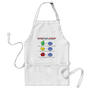 Avoid GM foods avoid 5 digit PLU starting with 8 Adult Apron