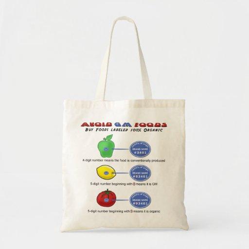 Avoid GM foods avoid 5 digit PLU starting with 8 Tote Bags